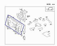 Шумоизоляция моторного щита, салон Mercedes ML W164, 2007 г.в. A1646800125