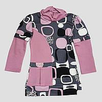 Трикотажная туника-гольф для девочки 4-6 лет (лиловый), фото 1