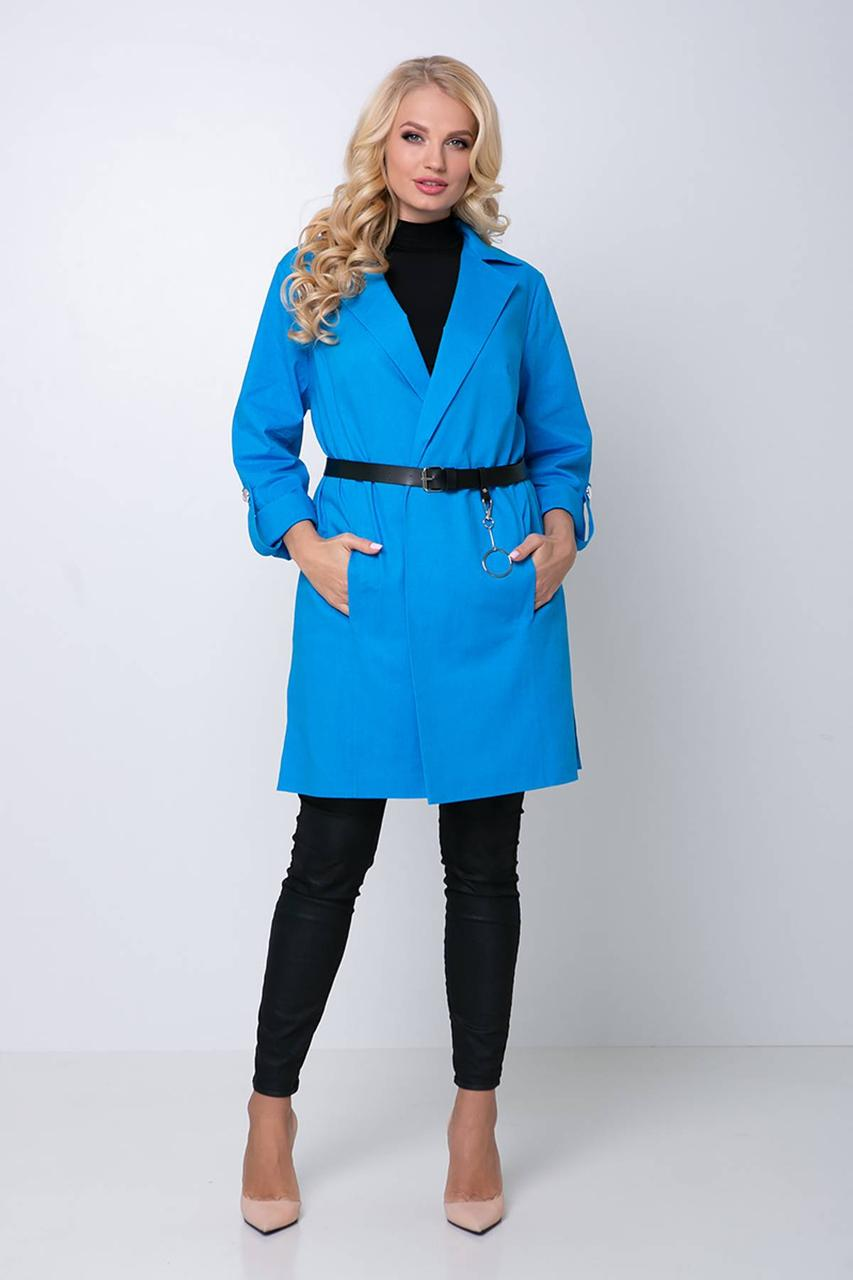 Женский жакет Эстер голубой (54-60)