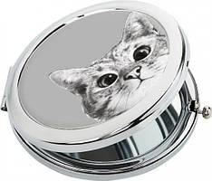 "Карманное зеркало ZIZ Карманное зеркало ""Эй, Кот!"" (27029) SKU_27029"