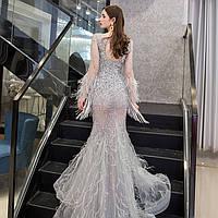 Вечернее платье Свадебное. Выпускное платье. Вечірня Випускна сукня рибка. Вечернее платье ручной работы