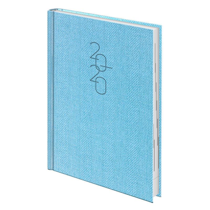 Ежедневник датированный Brunnen 2020 Стандарт Tweed голубой