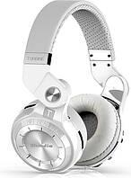 Беспроводные наушники Bluedio Беспроводные Bluetooth наушники Bluedio T2S с автономностью до 40 часов (Белый) SKU_508