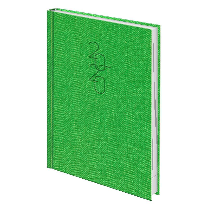 Ежедневник датированный Brunnen 2020 Стандарт Tweed светло-зелёный