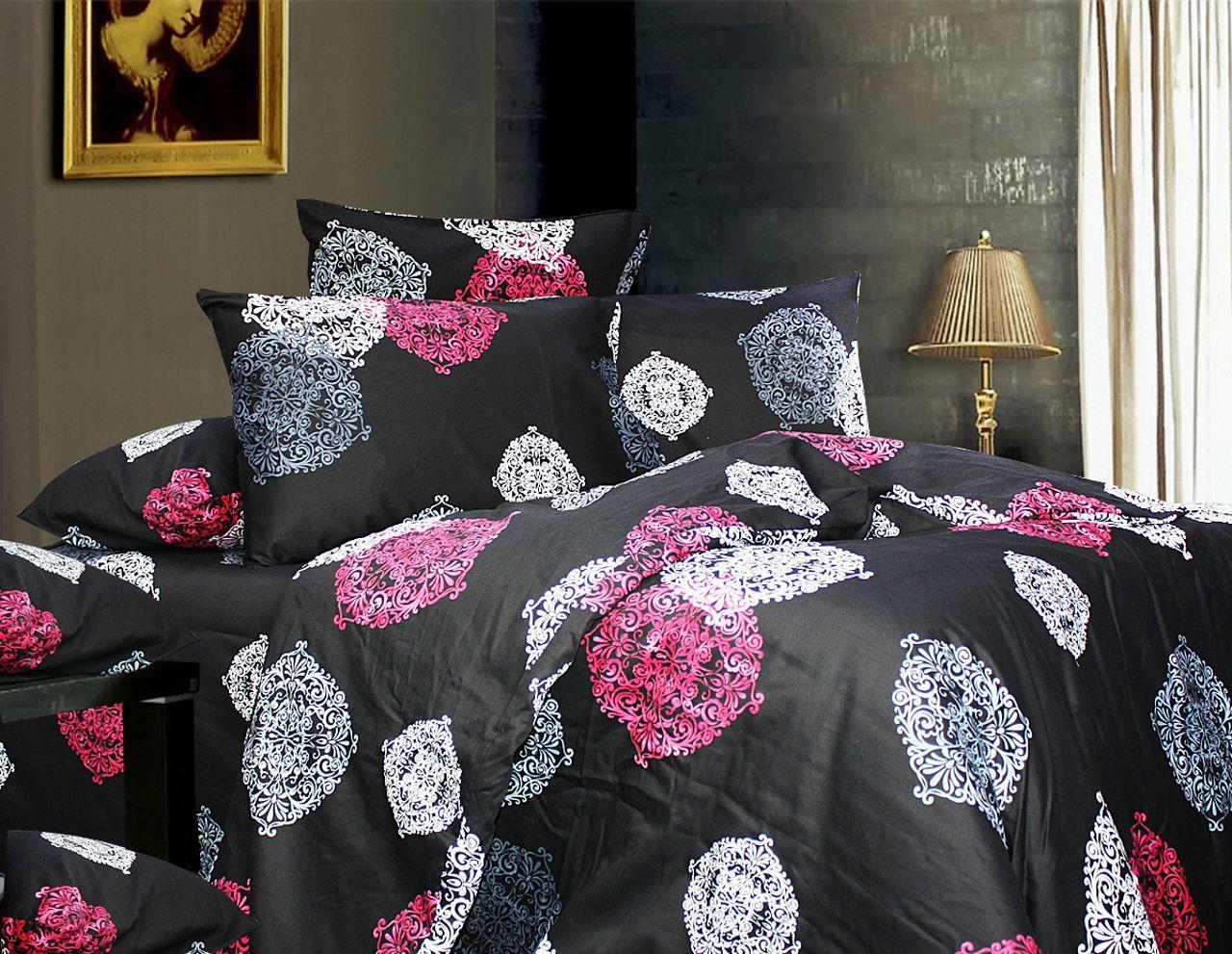 Комплект постельного белья Двуспальный, Сатин (2-х сп.ЕС0164)