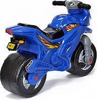 Беговел-Мотоцикл двухколесный с сигналом Bike Y6 Blue (508103)