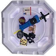 Волчок smart Бейблейд набор с ареной Волчек XENO XCALIBUR.M.I B-48 Beyblade Экскалибур B-48 + B-102 Twin Nemesis с пусковым устройством SKU_508081