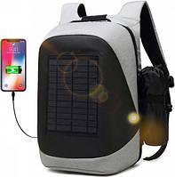 Рюкзак smart Рюкзак антивор с солнечной батареей, USB SBP1 Solar Backpack Black/Grey SKU_508360