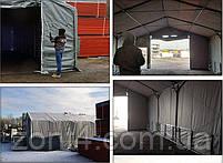 Шатер 5х10 метров ПВХ 600г/м2 под склад, гараж, ангар, намет, павильон, складское помещение, фото 5