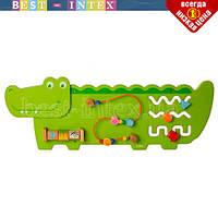 Деревянная игрушка Бизиборд MD 2013 крокодил 92 см