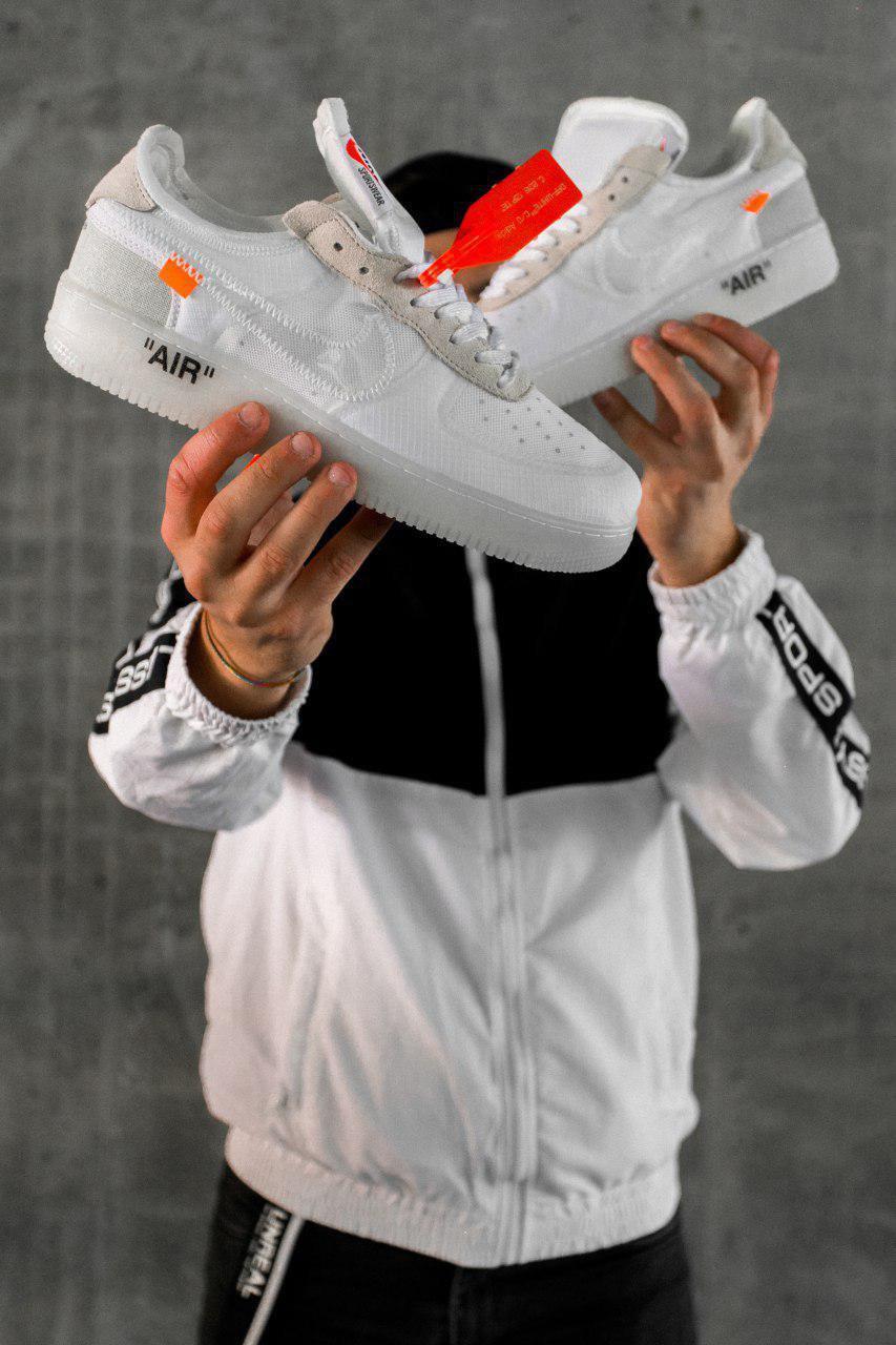 Чоловічі кросівки Nike Air Force 1 Off-White, Репліка