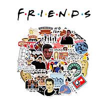 Набор виниловых наклеек Друзья / Friends 25шт.