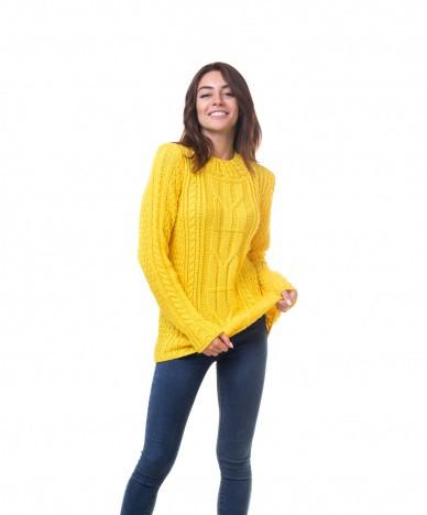 Объемный свитер с косами.Разные цвета