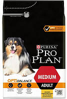 Сухой корм Про План (Pro Plan) для собак средних пород, c курицей 14КГ