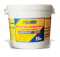 Штукатурка Polimin АК 20 фасадная (акрил) короед зерно 2,0мм