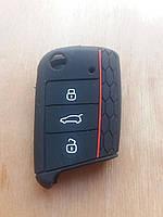 Чехол (силиконовый) для смарт ключа Seat (Сеат) 3 кнопки