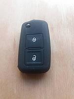 Чехол (силиконовый) для смарт ключа Seat (Сеат) 2 кнопки