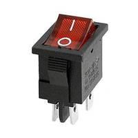 Переключатель с подсветкой MIRS-201, ON-OFF(6A 250VAC) SPDT 3P, 6A, 220V, красный