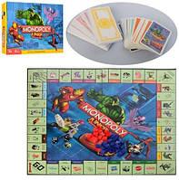 Настольная игра M 3802  Монополия, игр. поле, фишки, карточки, в кор-ке, 39,5-26,5-5,5см