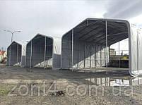 Шатер 8х20 метров ПВХ 600г/м2 с мощным каркасом под склад, гараж, палатка, ангар, намет, павильон садовый, фото 3