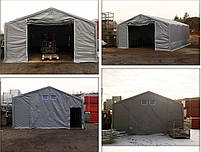 Шатер 8х20 метров ПВХ 600г/м2 с мощным каркасом под склад, гараж, палатка, ангар, намет, павильон садовый, фото 4