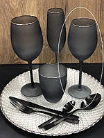 "Набор бокалов 4 шт для белого вина ""Черная Персия"", 400 мл, 9BGA001C-S"