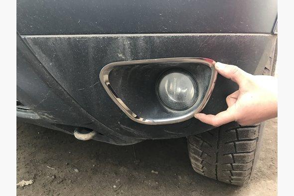 Накладки на противотуманки (2 шт, нерж) Dacia Duster 2008-2018 гг.