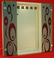 Шкаф-зеркало (80*80*14см) с LED подсветкой ШК875