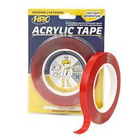 Двухсторонняя акриловая лента (силиконовый скотч) ACRYLIC TAPE, прозрачная - 12мм x 5м
