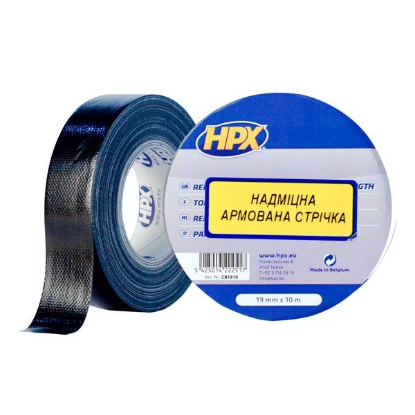 HPX 6200 - армированная ремонтная лента (скотч) 19мм x 10м, черная