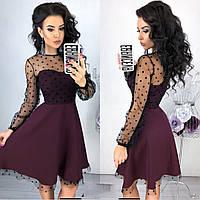 Платье Нью Лук бордового цвета (5 цветов) 42-44, 46-48 р.