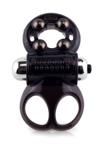 Кольцо для члена и мошонки с вибропулей Screaming The Man Challenge