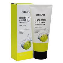 Лимонная детокс пилинг-скатка Lebelage Lemon Detox Peeling Gel, 180ml