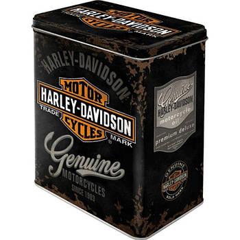 Коробка для хранения Nostalgic-Art Harley-Davidson Genuine Logo L (30107)