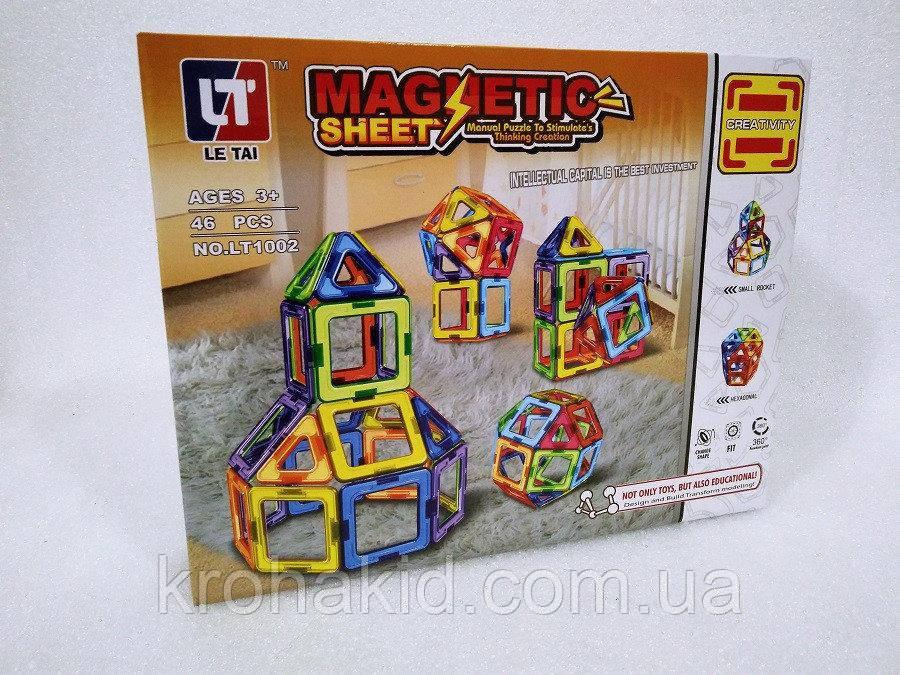 Конструктор магнітний LT1002 Magnetic Sheet - 46 деталей