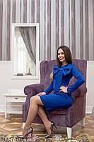 Классическое платье-футляр  с большим красивым бантом на груди   Luxury