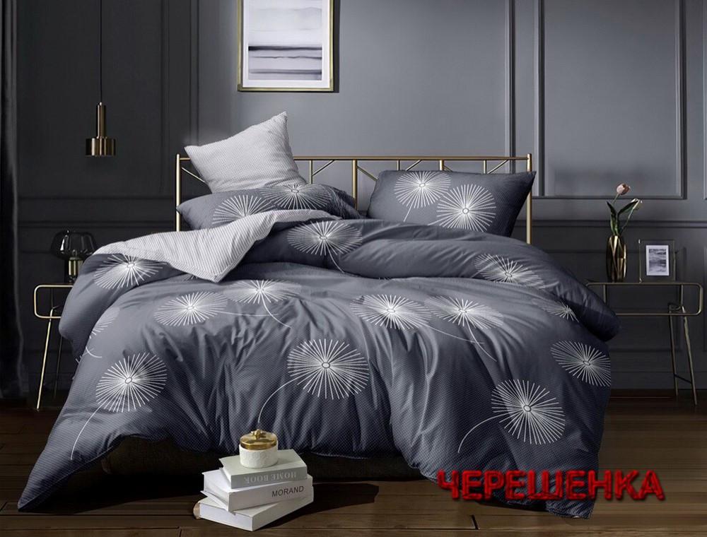 Семейный набор хлопкового постельного белья из Сатина №1904AB Черешенка™