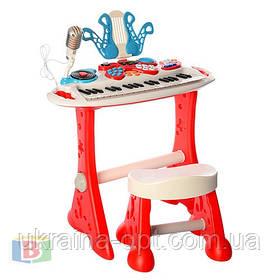 Детский синтезатор. Микрофон. Звуковые эффекты. Запись звука. 37 клавиш. 2072-NL WinFun