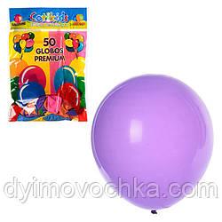 Кульки надувні MK 0011 10 дюймів, прозорий, мікс кольорів, 50шт в кульку, 19-28-1см