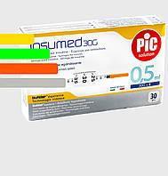 Шприц Инсумед - Insumed для інсулін U-100 0,5 мл*8мм, 30G (30 шт. в упаковці)