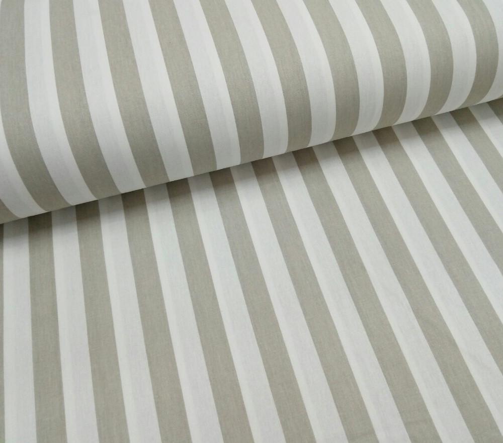 Хлопковая ткань (ТУРЦИЯ шир. 2,4 м) полоска бежевая