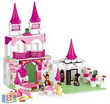 """Детский конструктор  """"Замок принцессы"""". Деталей 508 шт. Для детей с 6 лет. M38-B0151 SLUBAN, фото 2"""