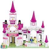 """Детский конструктор  """"Замок принцессы"""". Деталей 508 шт. Для детей с 6 лет. M38-B0151 SLUBAN, фото 4"""