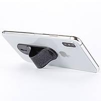 ◯Держатель для смартфона Momostick Pear (A-PE-02) Black гибкий сдвижной охват одним пальцем, фото 4