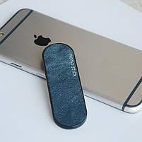 ☟Держатель для телефона Momostick Denim (A-DE-01) Blue подставка для портативных устройст на палец, фото 3