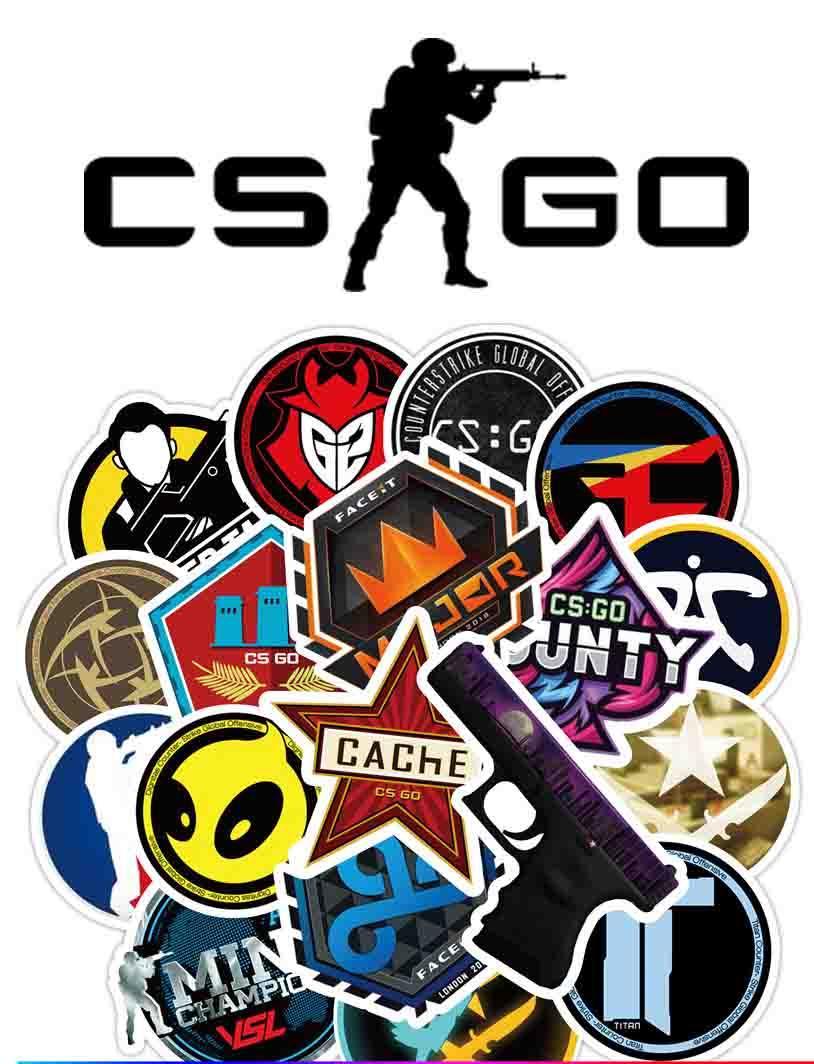 Набор виниловых наклеек Counter-Strike CS:GO 25шт.