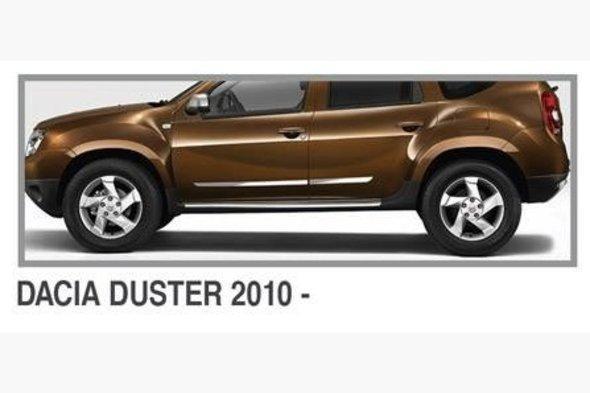 Молдинг дверной (4 шт, нерж.) Dacia Duster 2008-2018 гг.