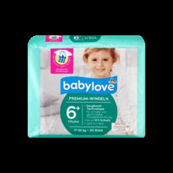 Подгузники Babylove Aktiv Plus XXLplus 6+ (17-32кг), 30шт