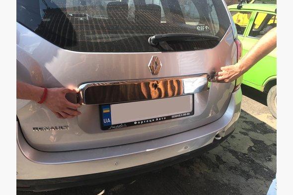 Планка над номером Полная (нерж.) Dacia Duster 2008-2018 гг.