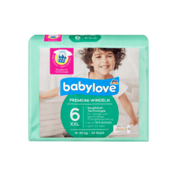 Подгузники Babylove Aktiv Plus Junior XXL 6 (16-30кг), 32шт